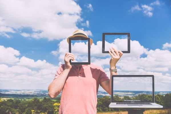 nature laptop outside macbook