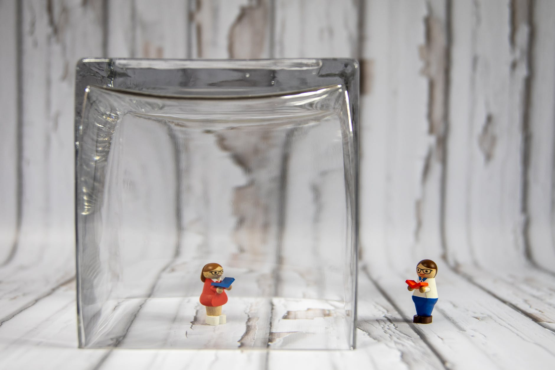 lego toy in clear glass container